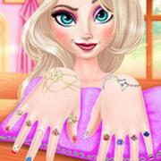 Queen Elsa Glaring Manicure