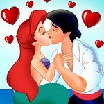 Ariel And Prince Kissing