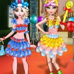Frozen Sisters Balloon Dress Look