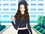 Amy Fashion Crop Sweater Dress