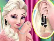 Elsa First Earring Trying