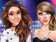 Ariana And Taylor At Music Awards
