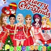 Princesses Christmas Card Decoration