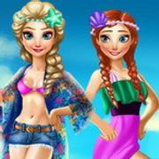 Elsa And Anna Summer Vacation