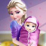 Elsa Baby Birth Caring