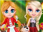 Little Elsa In Red Hood