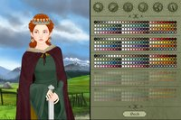 Medieval woman dress up game