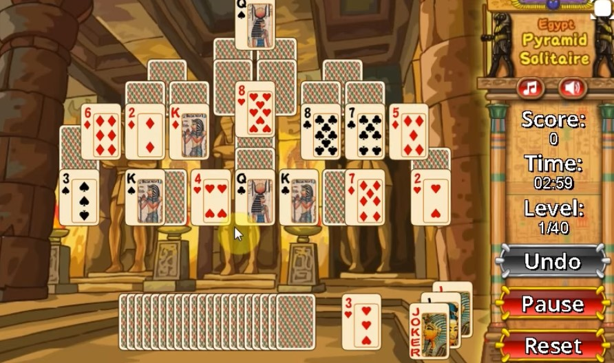Egypt Pyramid Solitaire Game - Play Egypt Pyramid Solitaire Online for Free at YaksGames